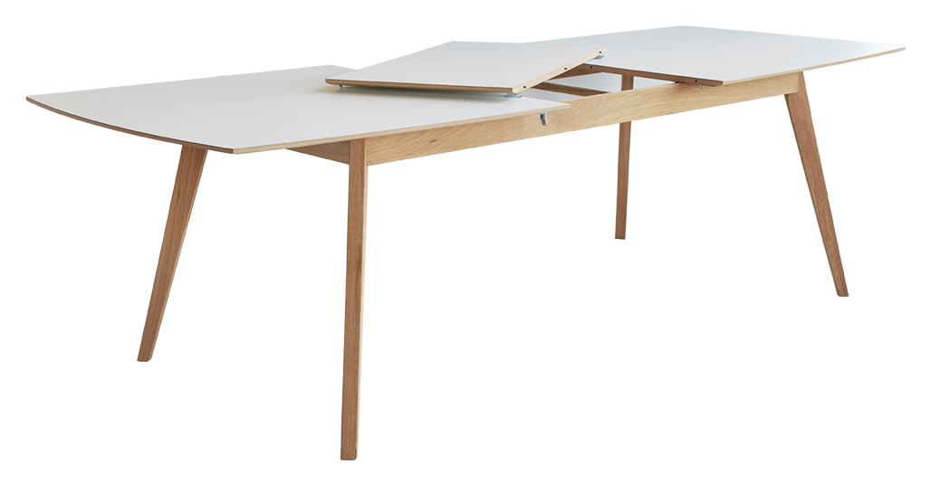 millie dining table rectangular with extension white