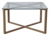 Cleo coffee table, 75x75, glass/ash foil