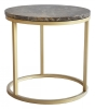 Accent coffee table Ø50 brown marble/faint powder coating brass frame