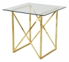 Cross Occasional table, 55x55, shiny brass