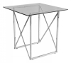 Cross Occasional table, 55x55, shiny chrome