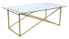 Cross Coffee table, 120x65, shiny brass