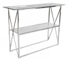 Cross Console table, 110x35, shiny chrome