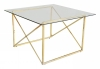 Cross Coffee table, 75x75, shiny brass