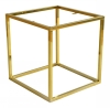 Accent Frame to Coffee table 50x50, shint brass