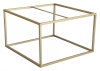 Accent Frame to coffee table, 75x75, faint brass colour
