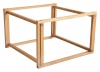 Accent Frame to coffee table, 75x75, oak