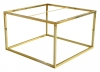 Accent Frame to coffee table, 75x75, shiny brass