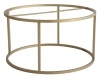 Accent Frame to Coffee table, round, Ø85,  faint brass colour