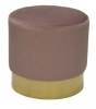 Bling stool, Ø42, pink/brass
