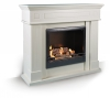 Cambridge ethanol fireplace white
