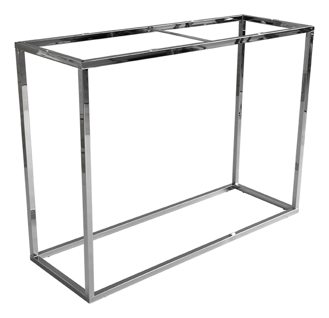 Superieur Accent Frame To Console Table, 100x35, Shiny Chrome